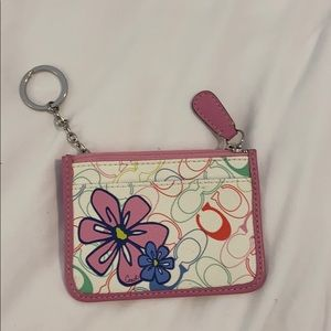 Coach zippered card holder